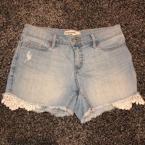 Abercrombie Kids MIDI Short Girls Size 11/12 lace